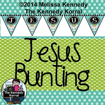 Christmas - Jesus Bunting {Party Banner}