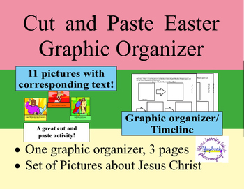 Jesus Christ Easter Sequence Cut and Paste Graphic Organiz