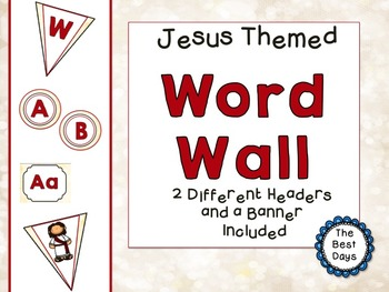 Jesus / Christian Themed Classroom Decor:  Word Wall Display