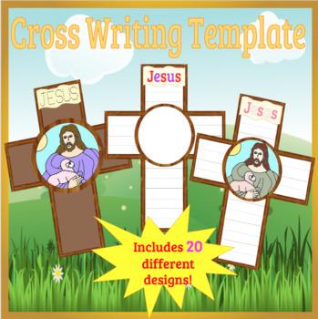 Jesus Writing Cross Template