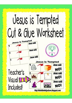 Jesus is Tempted Cut & Glue Worksheet Freebie