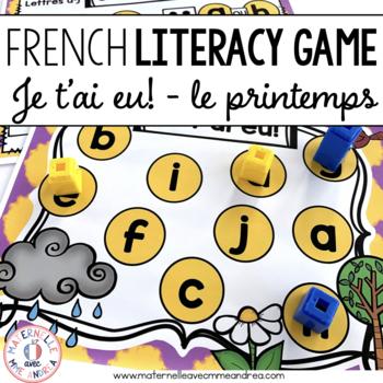 Jeu Je t'ai eu! Printemps (FRENCH Spring Gotcha! Game)