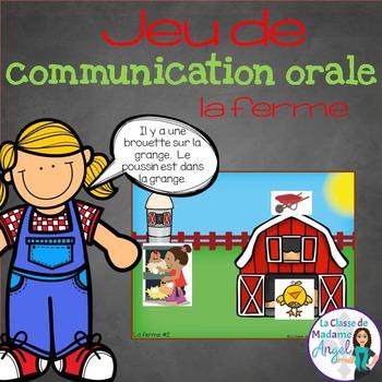 Jeu de communication orale: Farm- Oral Communication Game