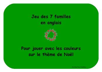 Jeu des 7 familles Anglais Couleurs Noël