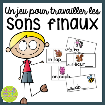 Jeu/Centre - Sons finaux (FRENCH Ending Sounds Game/Litera