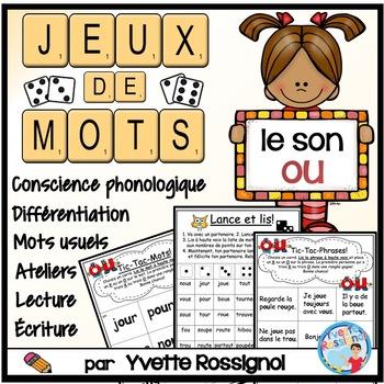 """Jeux de Mots (Le son """"ou"""") French Phonics, )"""