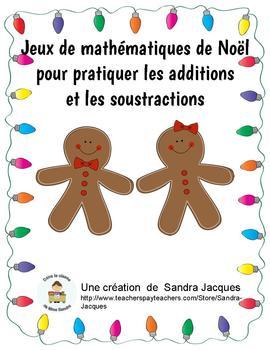 Jeux de mathématiques de Noël pour pratiquer les additions