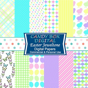 Jewel-tone Easter Digital Background Papers