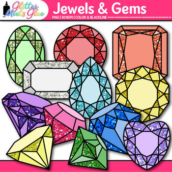 Jewels & Gems Clip Art {Great Pirate and Treasure Chest Gr