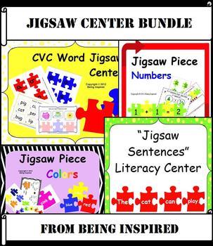 Jigsaw Bundle - Literacy and Numeracy Centers for Kindergarten