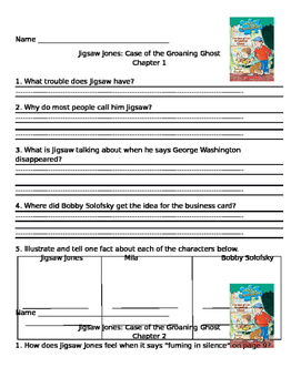 Jigsaw Jones The Case of the Groaning Ghost comprehension