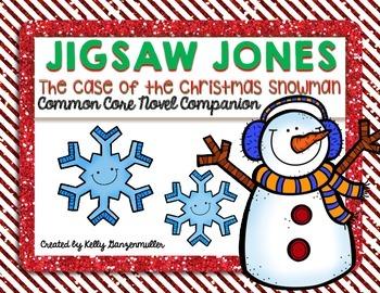 Jigsaw Jones-The Case of the Christmas Snowman Novel Compa