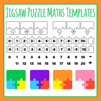 Jigsaw Puzzle Maths Templates- Addition and Subtraction Co