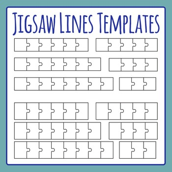 Jigsaw Puzzle Templates - Lines - Commercial Use Clip Art Pack