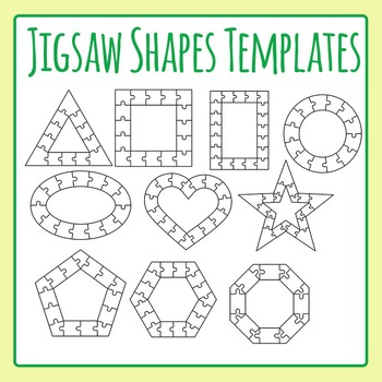 Jigsaw Puzzle Templates - Shapes - Outlines / Borders Comm