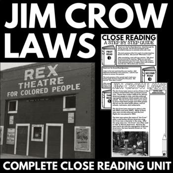 Jim Crow Laws - Racial Segregation - Information, Question