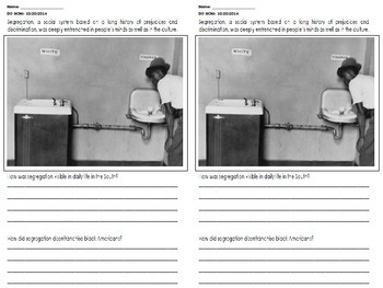 Jim Crow - Segregation Question