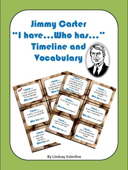 """Jimmy Carter """"I have...Who has..."""" Game"""