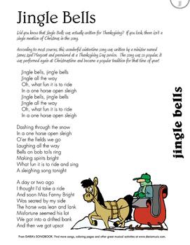 Jingle Bells - Free Lyric Sheet