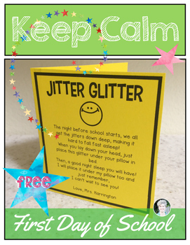 Jitter Glitter {Freebie} The Night Before Back to School K