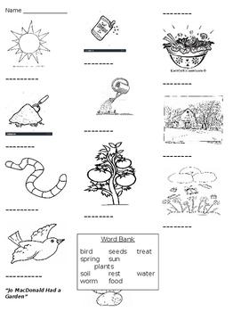 Jo MacDonald Had a Garden worksheet