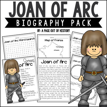 Joan of Arc Biography Pack (Women's History)