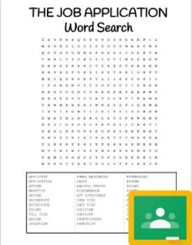 Job Application Word Search