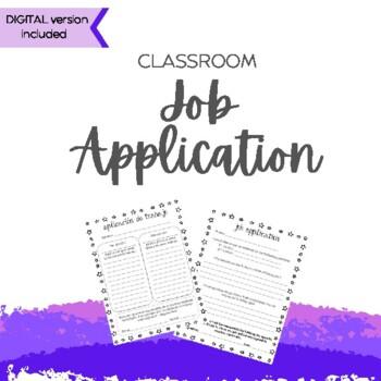 Job Application/Solicitud de empleo