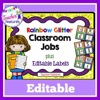 Editable Job Chart (Rainbow Glitter)