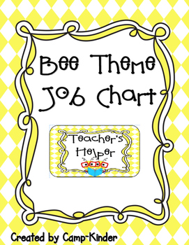 Job Chart- Bee Theme