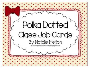 Job Chart Cards (Polka Dot Themed)