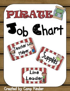 Job Chart- Pirate Theme