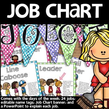 Job Chart (Polka Dot Print)