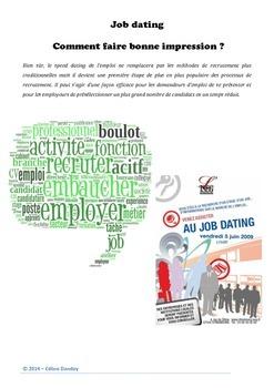 Job Dating : le travail et l'entretien d'embauche