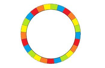 Job Wheel - 25 Students Rainbow Colored