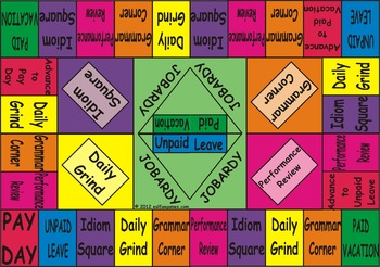 Jobardy Business English Board Game (Color Background Doub