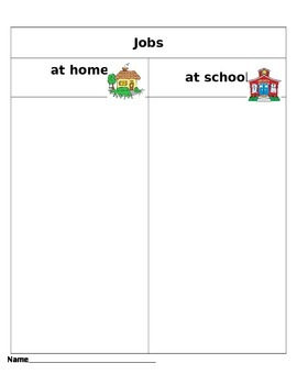 Jobs at home and at school