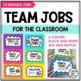 Classroom Team Jobs - Editable!