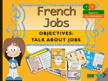 Jobs in French, les métiers full lesson for beginners