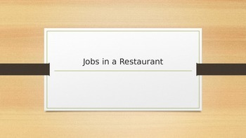 Jobs in a Restaurant