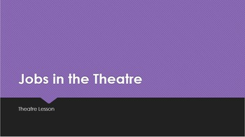 Jobs in the Theatre Vocabulary Powerpoint