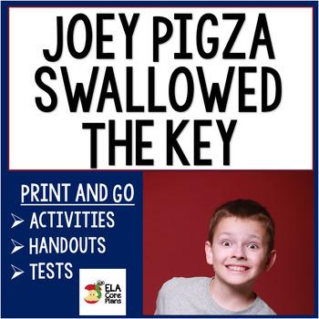 Joey Pigza Swallowed the Key Novel Unit ~ Activities, Hand