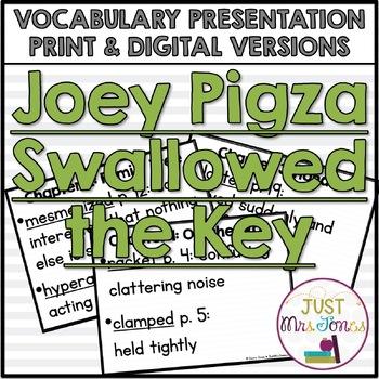 Joey Pigza Swallowed the Key Vocabulary Presentation