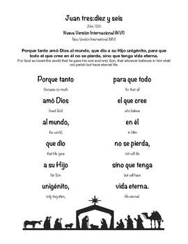 John 3:16 Spanish Memory Verse