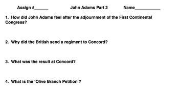 John Adams - Part 2 - Independence