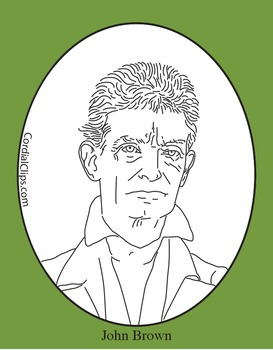 John Brown Clip Art, Coloring Page or Mini Poster