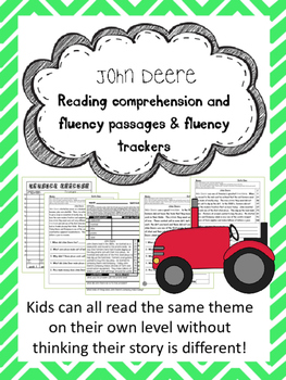 John Deere fluency and comprehension leveled passages