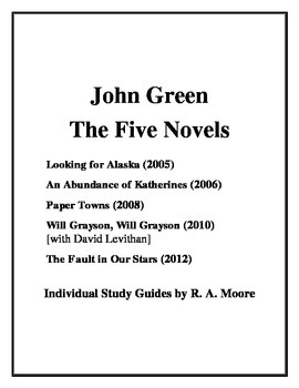 """""""Looking for Alaska"""" and ... by John Green: Study Guides"""