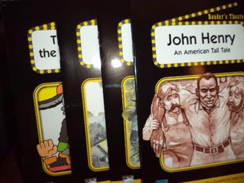 John Henry,Jack and Beanstalk ,Harriet Tubman,Tornado  (set of 4)