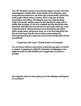 John Locke Second Treatise Application Activity